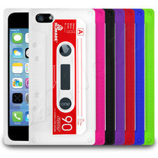 Retro Old Skool Cassette Tape Silicone Case Cover Skin fits Apple iPhone 5 5s