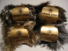 LANAS STOP KOALA FAUX FUR KNITTING YARN - BUY 2 BALLS GET FREE PATTERN - 50g