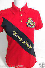 TOMMY HILFIGER WOMENS POLO SHIRT RED TEE TOP NEW NWT