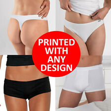 Knickers, Briefs, Boy Shorts, Thongs, Underwear Custom Printed with any Design