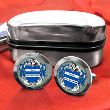 Coat of Arms Family Crest Irish Surname Cufflinks Gift