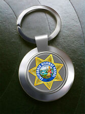 California Highway Patrol (CHP) Bonded Leather Key-fob/Metal Keyring