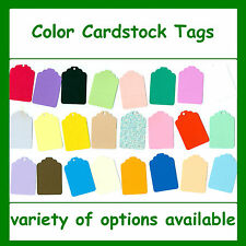 Tags Color Cardstock Blank Colored Gift Tag Price Craft Sale Consignment Shop