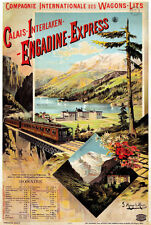 TX124 Vintage Engadine Express Calais French Railway Travel Poster A2/A3