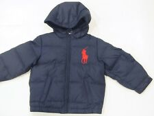 New with tag NWT Ralph Lauren Boys Navy Blue Polo Down Jacket 2T 3T Big Pony 165
