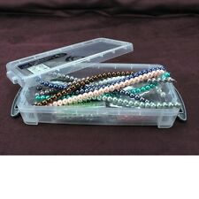 Bead Storage Box Crystal Rondelle And Glass Pearl Bundle, 18 Strands