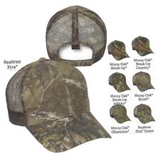 Mossy Oak Realtree CAMO MESH BACK Camouflage patterns Structured Hunting Hat Cap