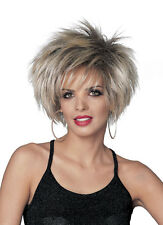 Unisex Lead Singer Wig Tina Turner Dress Up Halloween Adult Costume Accessory