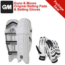 *NEW* GUNN & MOORE ORIGINAL CRICKET BATTING PADS AND GLOVES PACKAGE, RRP £165
