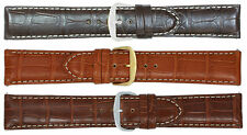 Men's Matte Louisiana Alligator Leather Watch Strap Band Made in Italy