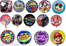 """1 x 18"""" Foil Party Balloon for Childrens Birthday Cartoon, Film & TV Characters"""