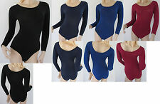 Nylon Dance Gymnastic Workout Long Sleeved Leotard 550 A S, A M, A L