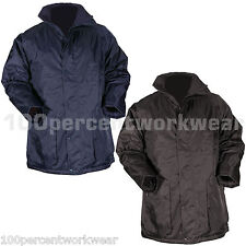 Blackrock Work Full Length Parka Coat Mens WATERPROOF Navy Blue Black Quilted