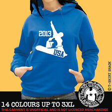 Ski & Snowboard USA Any Resort Hoody, Hoodie, Ski Holiday Hooded Sweat (998)