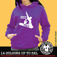 Ski & Snowboard Italy Any Resort Hoody, Hoodie, Ski Holiday Hooded Sweat (998)