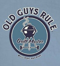 OLD GUYS RULE CLASSIC GRILL MASTER RIVER BLUE TEE SHIRT MEDIUM