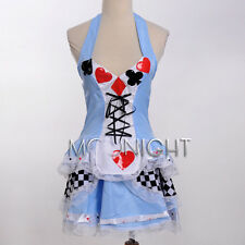Sexy Alice In Wonderland Adult Costume Fancy Dress Up Halloween Cosplay XS-4XL