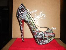 Christian Louboutin LADY PEEP GEEK Embroidered Platform Heels Pumps Shoes