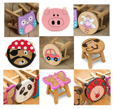 New Boxed Small Kids Childs Wooden Pine Chair Stool childrens **New Designs!**