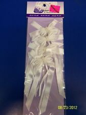 Ribbon Favor Ties w/Pearl & Satin Bow Wedding Gift Party Bridal Shower 4 COLORS