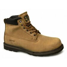 Grafters Mens Oil Heat Resistant Leather Welted Work Boots Brown New Size 6-15