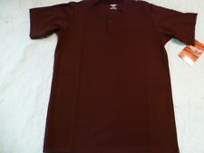 Youth Boys RAWLINGS MAROON Baseball ONE Button HENLEY JERSEY 100% POLYESTER