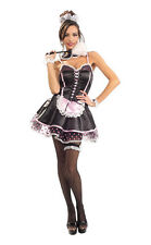 Naughty French Maid Chamber Upstairs Pink Dress Up Halloween Sexy Adult Costume
