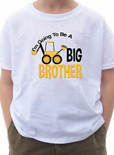 I'm going to be a Big Brother Shirt with Construction digger mud dirt T-shirt