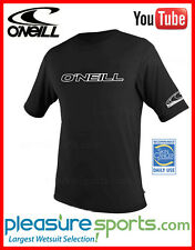 O'Neill Men's Rashguard Loose Fit Rash Tee 50+ UPF Rated Protection Black