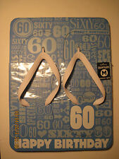 Hallmark Quip Flops Flip flops Sandals Happy Birthday 60 our 3006