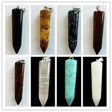 bai1-8 Beautiful Carved gemstone Pendulum pendant Bead