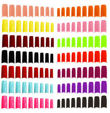 500 x FALSE FRENCH STYLE ACRYLIC NAIL ARTIFICIAL FAKE NAIL TIPS 9 COLOURS MAKEUP
