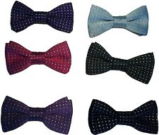 Toddler Boys Childs Bow Tie - Gold/Silver Sparkle Pin Spot Dance Wear Group Club