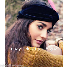 ha9 Celebrity Style Vintage Wide Knotted Velvet Turban Headband Headwrap