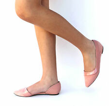 New Womens ODe1 Blush Pink Pointed Toe Ballet Flats sz 5.5 to 11