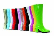 PLEASER RETRO GOGO 300 LOW BLOCK HEEL PATENT OR MATT KNEE BOOTS