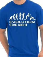 Evolution Of Stag Night Party  Stag Married Hen Mens T-Shirt  Size S-XXL
