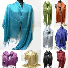 Shawl Glitter Wedding Metallic Long Tassel Sparkling Wrap Evening Shiny Scarf