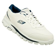 53681 WHITE NAVY SKECHERS SHOES ON THE GO WALK MEN CASUAL COMFORT SPORT SNEAKER
