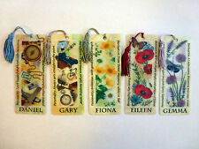 History & Heraldry 3D Personalised Bookmarks - Names: D - G