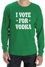 I Vote for Vodka Long Sleeve T-Shirt Election America Anti Obama Romney Funny