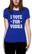 I Vote for Vodka Women T-Shirt Election America Anti Obama Romney Tipsy Funny