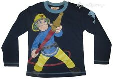 Boys Fireman Sam Long Sleeve Cotton Top Ages 1-6 Years