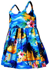 Toddler Hawaiian Dresses Waikiki Sunset 130-3104 NEW 100% Cotton Made in Hawaii.