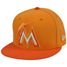 MLB New Era NE 59Fifty 5950 Tint Basic Miami Marlins Fitted Hat Cap Orange