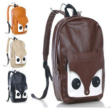 Girl Cute Naughty Little Fox Bag PU Leather Backpack Bag Schoolbag Travel