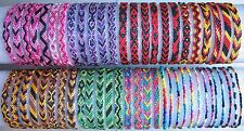 Silk Friendship Bracelet WRISTBAND Surfer Hippy Boho Party Gift *Choose Design*