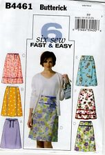 Butterick 4461 A Line Fit Flare Skirt Easy Sew 6 Option Sewing Pattern NEW