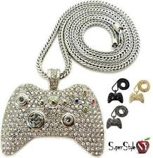 New Xbox 360 Game Controller Crystal Pendant Iced Out Hip Hop Chain Franco Style