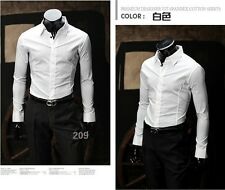 New Summer Sexy Men's Casual Slim fit Stylish Long Sleeve Dress Shirts 8 Color
